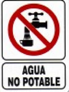 No agua potable