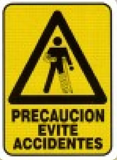 Precaución evite accidentes